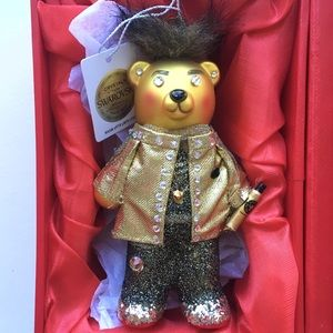 Swarovski Crystals Fashion Bear Ornament